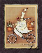 Схема для вышивки крестом Французский повар 2