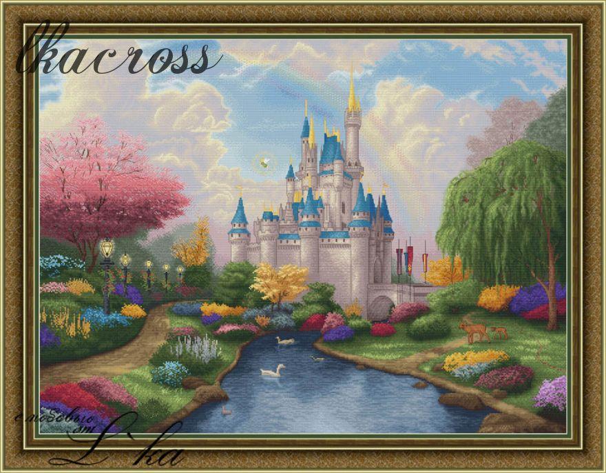 Схема для вышивки крестом Сказочный замок