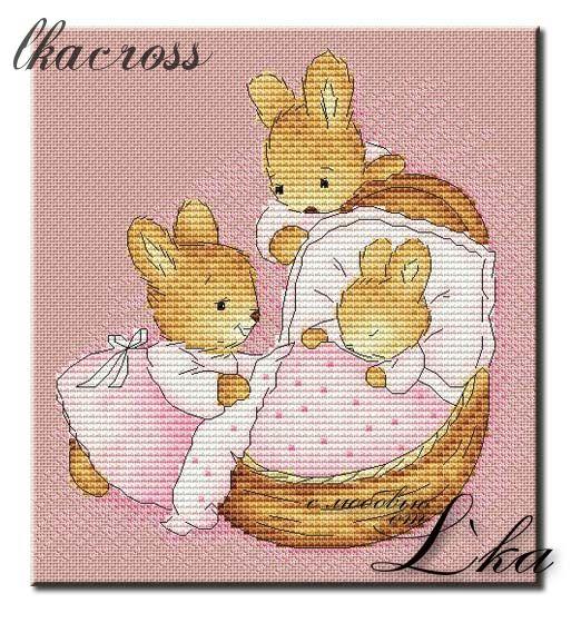 Схема вышивки Little Bunny