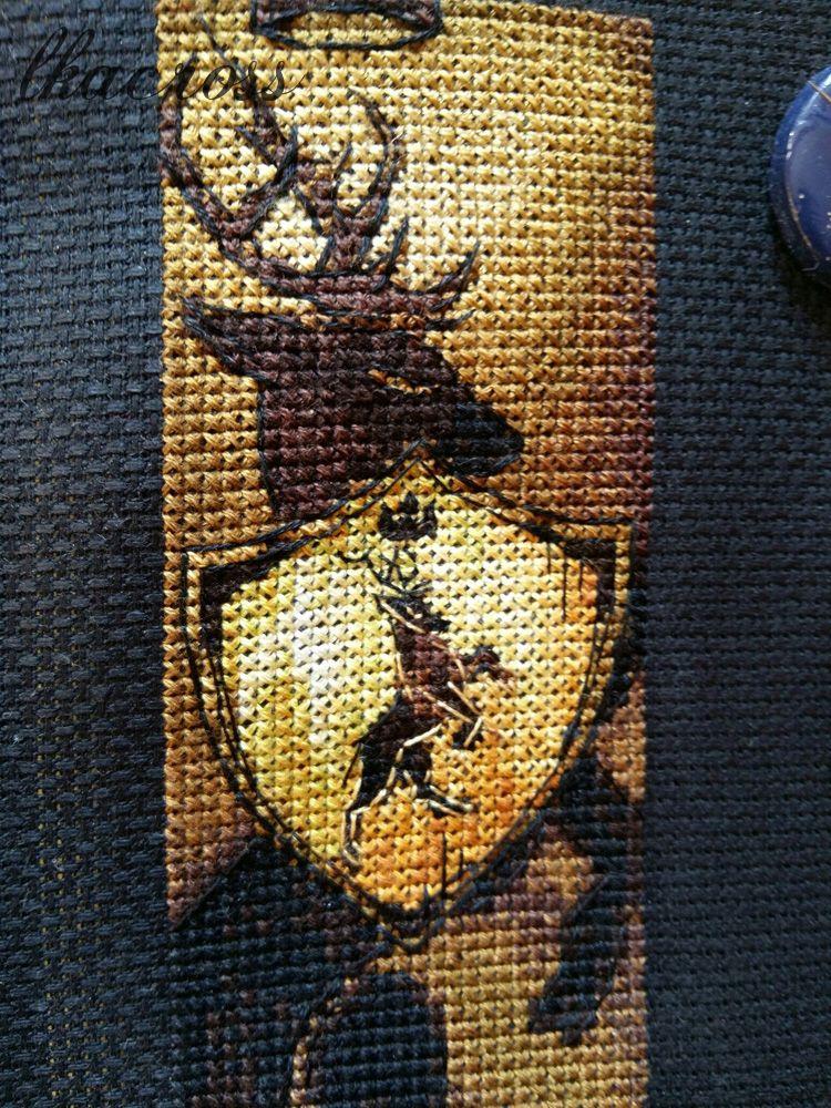 Схема-закладка для вышивки крестом Дом Ланнистеров. Отшив.