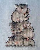 Схема для вышивки крестом Хомячки. Отшив.