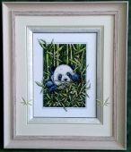Схема для вышивки крестом Панда. Отшив.