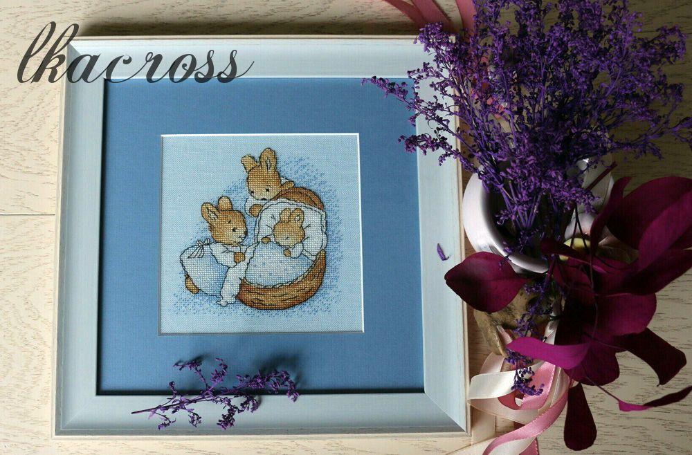 Схема для вышивки крестом Little bunnu. Отшив.