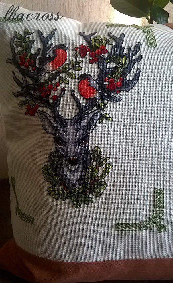 Схема для вышивки крестом Хранитель леса. Отшив.