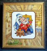 Схема для вышивки крестом Мастерская Деда Мороза. Отшив.